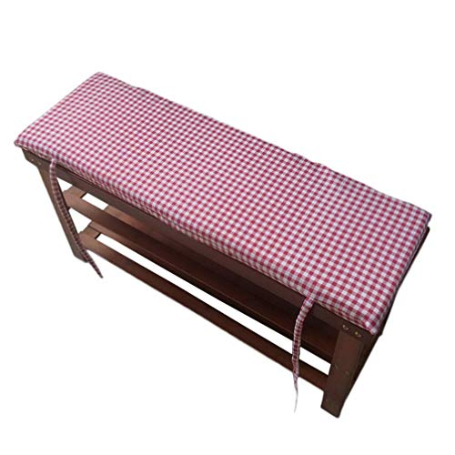 POETRY Terrace Swing Tatami Floor Cushion Long Bench Garden Chair Cushion With Fastening Laces Bench Cushions Indoor Outdoor Furniture Cushion (B 100x30x4cm)