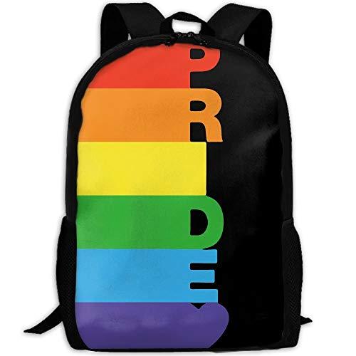 Gay Pride Rainbow Bisexual Unique Outdoor Shoulders Bag Fabric Backpack Multipurpose Daypacks For Adult