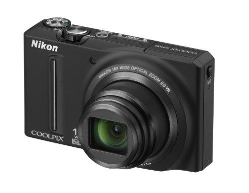 Nikon Coolpix S9100 Digitalkamera (12 Megapixel, 18-fach opt. Zoom, 7,5 cm (3 Zoll) Display, Full-HD Video, bildstabilisiert) nachtschwarz