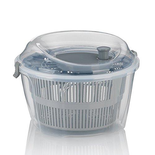 kela Salad spinner Mailin 4,4l of plastic in grey, 24.5 x 24.5 x 17.5 cm