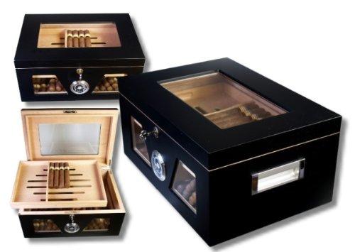 Black Wonderful Kristallglas Humidor V-1320 inkl. Lifestyle-Ambiente Tastingbogen