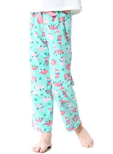 Image of Blue Fox Fleece Pajama Pants for Girls - See More Cute Prints