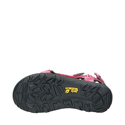 Jack Wolfskin Mädchen Seven Seas 2 Sandal G Sport, Pink (Tropic Pink) - 5