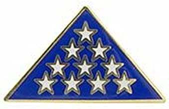 folded flag pin