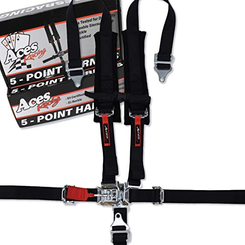 Aces Racing 5 Point Harness with 2 Inch Padding (Black)