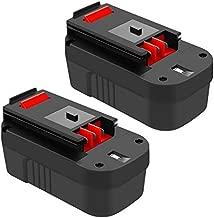 18 Volt 3.8Ah HPB18 Replacement Battery for Black and Decker 18V Ni-Mh, Compatible with B&D 18 Volt HPB18-OPE 244760-00 A1718 FS180BX FS18BX FS18FL FSB18 Firestorm Batteries 2 Packs