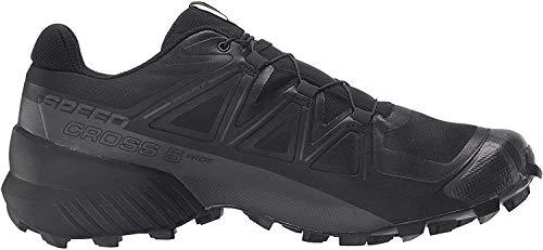Salomon Men's Speedcross 5 Trail Running, Black/Black/Phantom, 10.5