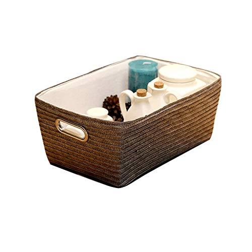 Cartones para embalaje Cesta de almacenamiento Caja de almacenamiento Cesta de almacenamiento de escritorio Snacks Caja de acabado Caja de escombros Tela de tejido Caja de cartón (Color: B)