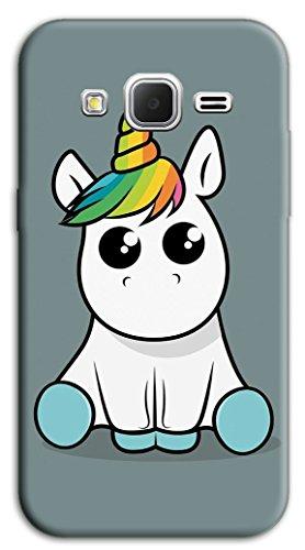 Mixroom - Cover Custodia Case in TPU Silicone Morbida per Samsung Galaxy Core Prime G360 M578 Unicorno Baby