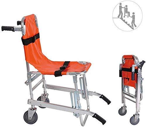 GLJY EMS Aluminiumlegierung Leichter Treppenstuhl - Ambulance Medical Lift mit Schnellverschluss Feuerwehrmann Evakuierung Medical Lift Treppenstuhl mit Schnellverschluss