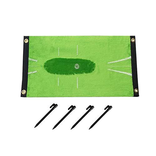 Golf Übungsmatte,Dauerhaft Swing Detection Batting Mat, Golf Detection Batting Minigolf-Übungs-Trainingshilfespiel und Geschenk,for Home Garden Office Outdoor/Indoor Use (A-Outdoor Style)