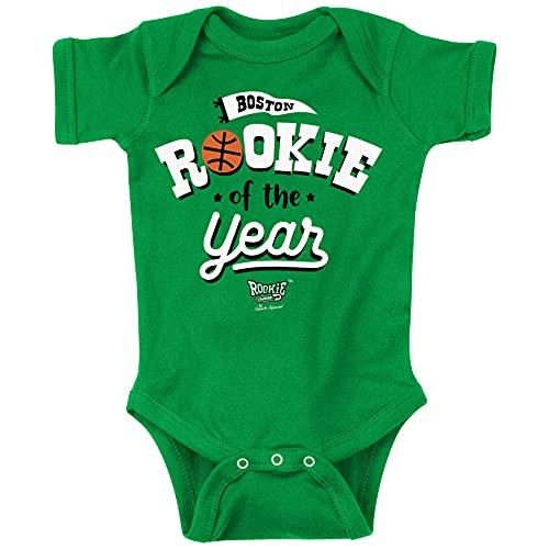 Boston Basketball Fans. Rookie of The Year Green Onesie (Onesie, 6 Month)