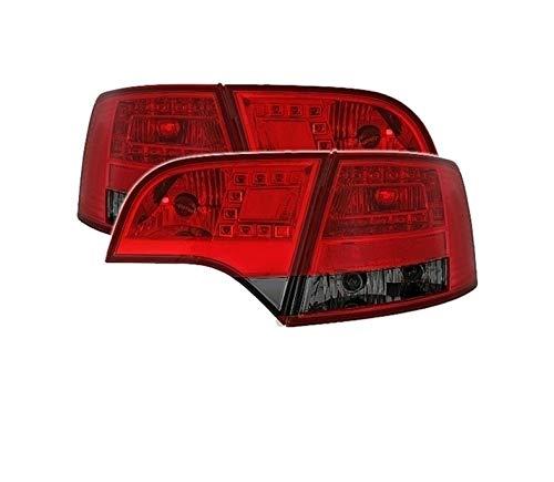 Fanali posteriori VT422 - Set completo di luci posteriori per auto e lato passeggero, con LED rosso fumo compatibile con Audi A4 B7 Avant Estate 2004 2005 2006 2007 2008