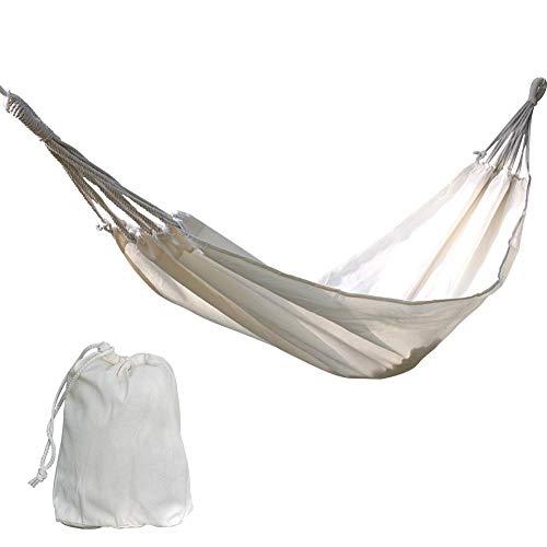 farmer-W Biback Hamaca Doble Hamac Ocio Cama Colgante Dos Personas Sleeping Lona Columpio para Patio Porche Camping Caza Uso Exterior e Interior Contemporary