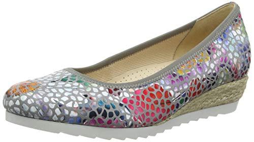 Gabor Shoes Damen Comfort Sport Geschlossene Ballerinas, Grau (Stone (Jute) 24), 38.5 EU