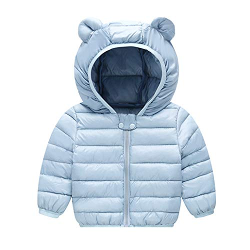 Runuo Baby Daunenjacke,Kinder Kapuzenmantel Jacke Leichte Oberbekleidung Outfits