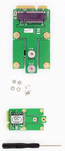 NGFF (M.2) WWAN/LTE/3G/4G zu Mini-PCIe Adapter (mit SIM-Slot)