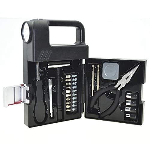 Fransande - Juego de 21 linternas de bolsillo con luces LED, juego de herramientas de mano, kit de reparación de destornilladores, pinzas de herramientas materiales