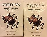 Godiva Belgium 1926 Masterpieces Dark Chocolate Ganache Heart 14.6 oz (2pack 14.6oz each)