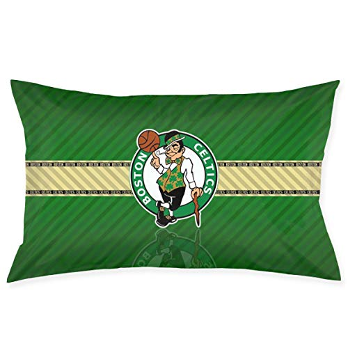Franklin Sports Boston Celtics Pillowcase with Hidden Zipper 1 Pack Queen Size Pillow Case for Sleeping Or Living Room Decoration