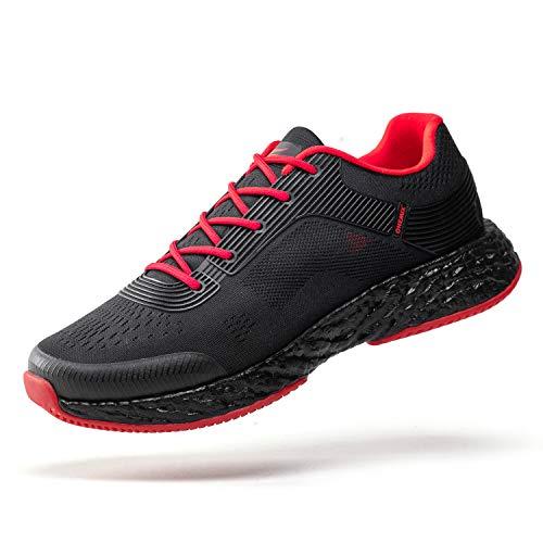ONEMIX Schuhe Herren Sneaker Straßenlaufschuhe Sportschuhe Turnschuhe Outdoor Leichtgewichts Laufschuhe Atmungsaktive Fitness Schuhe 1361 42EU