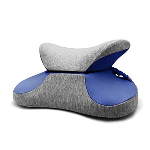 Qingxin Espuma de memoria multifuncional almohada de siesta soporte de cintura plegable portátil estudiante lumbar cojín oficina dormir almohada