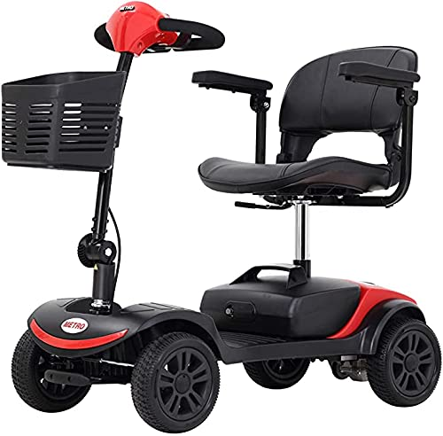 4 Wheel Mobility Scooter (FBA), Electric Wheelchair Device, Compact Heavy Duty Mobile with Basket...