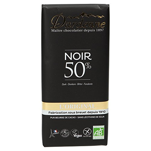 Dardenne Tablette Chocolat Noir 50% Cacao 100 g