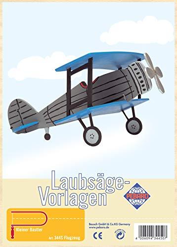 Pebaro figuurzaagmodel van multiplex motief vliegtuig, hout, DIN A4