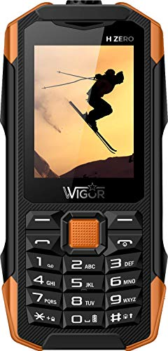 Wigor H Zero Black, IP 68 Rugged Phone, Dual Sim Phone, gsm, Bluetooth, FM, MP3, 1500 mAh.