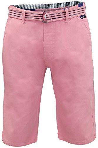 Kushiro City - Pantaloncini da uomo in cotone con cintura in vita Mixed Pink