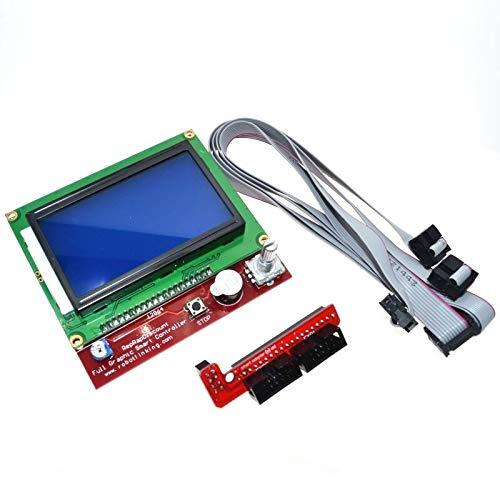 H.Y.FFYH Accesorios para impresoras Controlador Inteligente de la Impresora 3D 1.4 LCD 12864 Pantalla LCD Panel de Control Azul