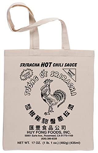 Sriracha Hot Chili Sauce Natural Color Bolsa De Compras Shopping Bag Beige