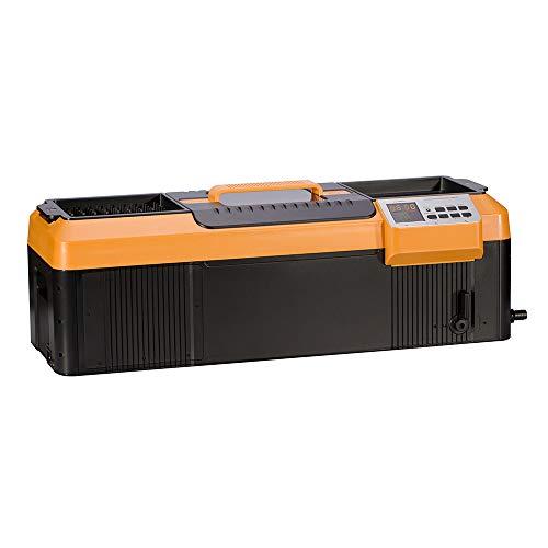"""iSonic P4890(II) Commercial Ultrasonic Cleaner, Plastic Basket, Heater, Drain, 110V, 2.3Gallons / 9 Litre, 25.5"""" Long Tank, Orange/Black"""