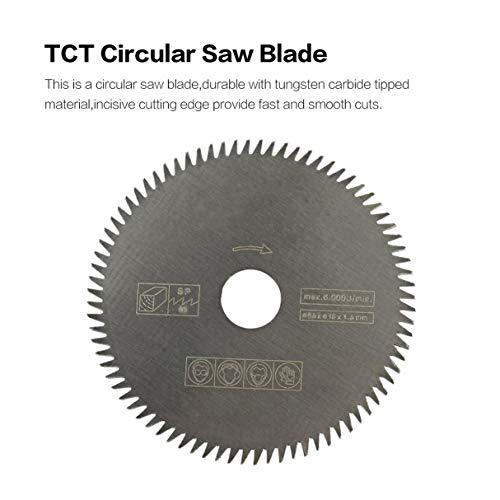 Kreissägeblatt Ø 165x20-60 Zähne mit Reduzierring für Kupfer Eisen Alu Holz g2