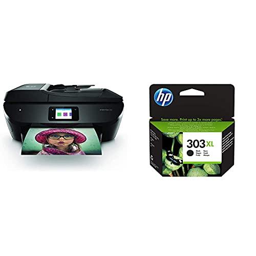 Hp Envy Photo 7830 - Impresora Multifunción Tinta, Color, Wi-Fi + 303Xl T6N04Ae, Negro, Cartucho De Tinta De Alta Capacidad