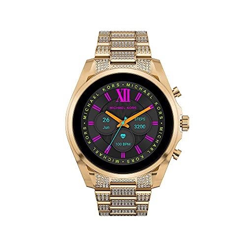 Michael Kors Womens Digital Touchscreen Uhr mit Stainless Steel Armband MKT5136