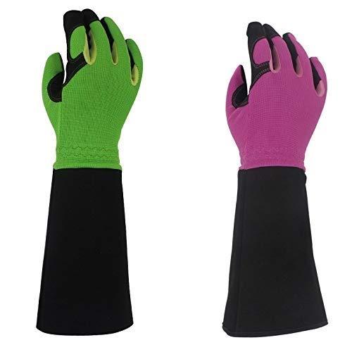 SGJFZD - Guantes de poda para hombres y mujeres, guantes largos a prueba de espinas, mejores regalos de jardín y herramientas para jardinería, E, Small
