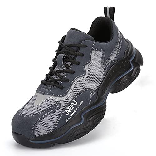 Blueskyli Sicherheitsschuhe Herren Damen Arbeitsschuhe S3 Leicht Sportlich Atmungsaktiv Schutzschuhe mit Stahlkappe Sneaker Gr.36-46