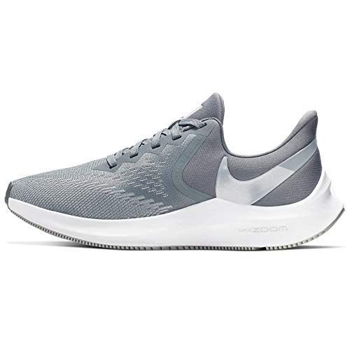 ---Nike Women's Zoom Winflo 6 Running Shoes, Multicolour (Cool Grey/MTLC Platinum/Wolf Grey/White 2), 9 US