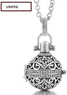 Set Joyeria Llamador de Angeles Emperatriz del Cielo con Incrustaciones de Swarovski A092 Plata