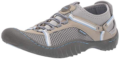 Price comparison product image JSport by Jambu Women's Tahoe Max Sneaker,  Grey / Stone Blue,  7 M US