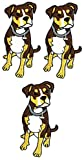 Umama Patch Set of 3 Puppy Craft Fabric Cute Pet Dog American Pit Bull Terrier Breed Cartoon Retro Fun Embroidered Applique Iron on Patch for Backpacks Jeans Jackets T-Shirt Clothing