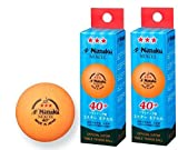 6 Balls , NITTAKU NEXCEL (Made in Japan) , New Material (Non-Celluloid) , Orange 3 Stars Table Tennis Ball + Free Racket Protection Edge Tape