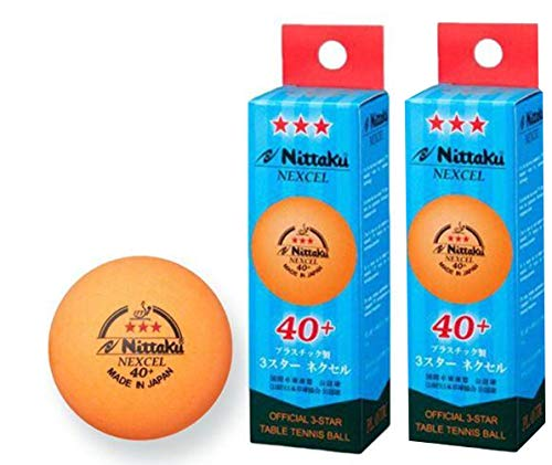 Great Features Of NITTAKU 6 Balls NEXCEL (Made in Japan), 40+ Orange 3 Stars Table Tennis Ball + Fre...