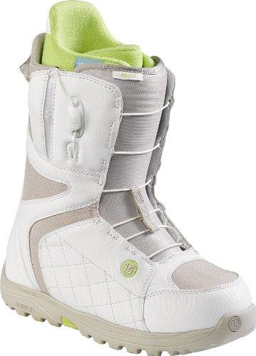 Burton 10627101017 Bottes de Snowboard pour Femme, Taille 43, Noir/Menthe, Femme, Boots Mint White/Tan, White/Tan, 4