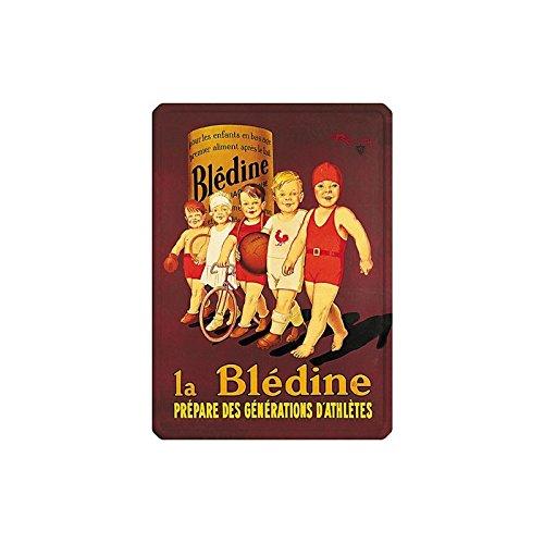 Editions Clouet 29019 - Petite Plaque métal 15x21 cm Blédine - Bébés athlètes