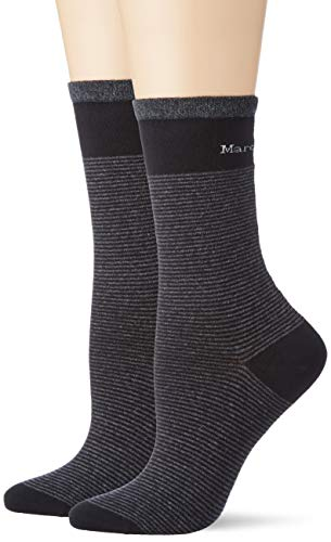 Marc O'Polo Body & Beach Damen Multipack W 2-Pack Socken, Schwarz, OneSize_2