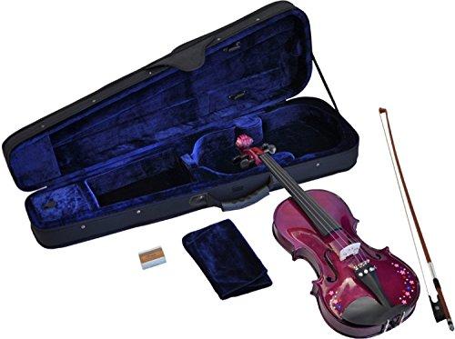 Steinbach 1/2 Geige im SET, lila mit Blumendekor, handgearbeitet