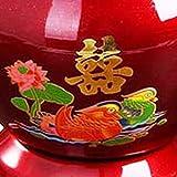 kekison 1960s Chinese Traditional Fruit Basket Obstkörbe Antique Enamel Bowl Küche Deko Esstisch Dekoration Doppellagiger Wärmeisolierung Ice Bucket Korb Rack Display Stand - 3